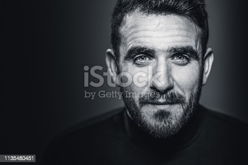 Man portrait in black and white