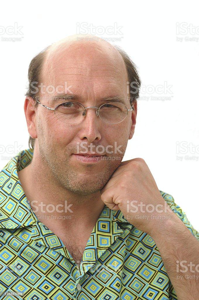 man portrait on white royalty-free stock photo