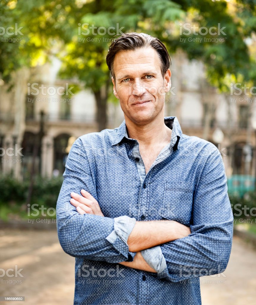 Man portrait stock photo