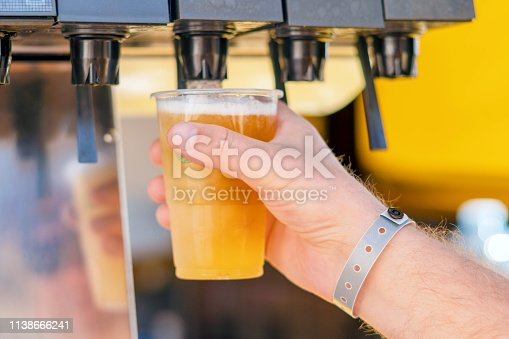 istock Man pouring fresh drink in self service bar 1138666241
