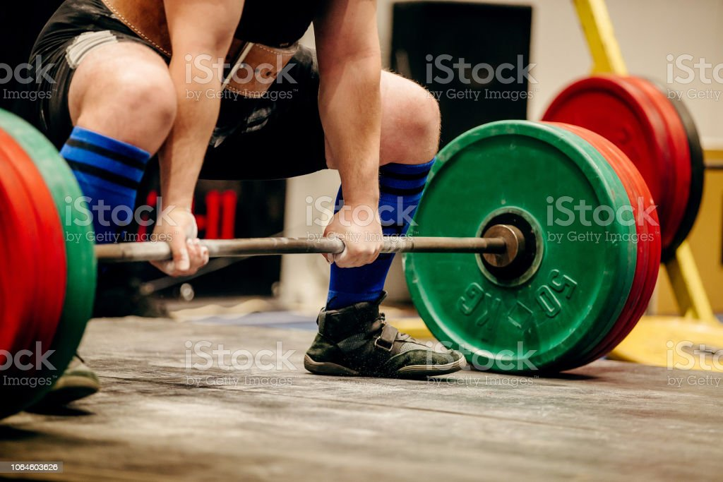 Man Powerlifter Exercise Deadlift Competition Powerlifting
