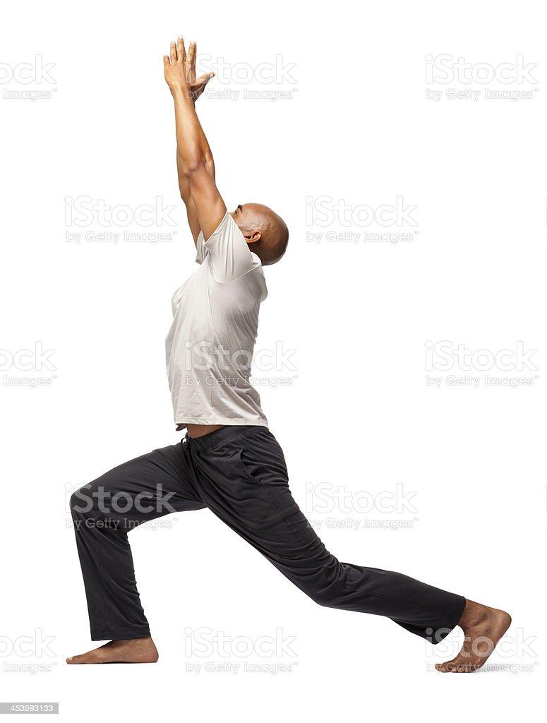 Man Practicing Yoga - Isolated stock photo