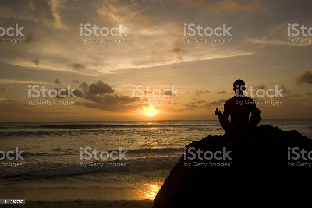 Man practicing yoga royalty-free stock photo
