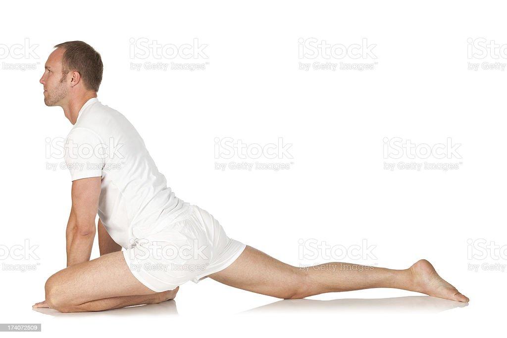 Man practicing yoga royalty-free stock photo
