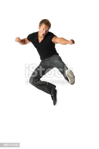 Man practising martial artshttp://www.twodozendesign.info/i/1.png