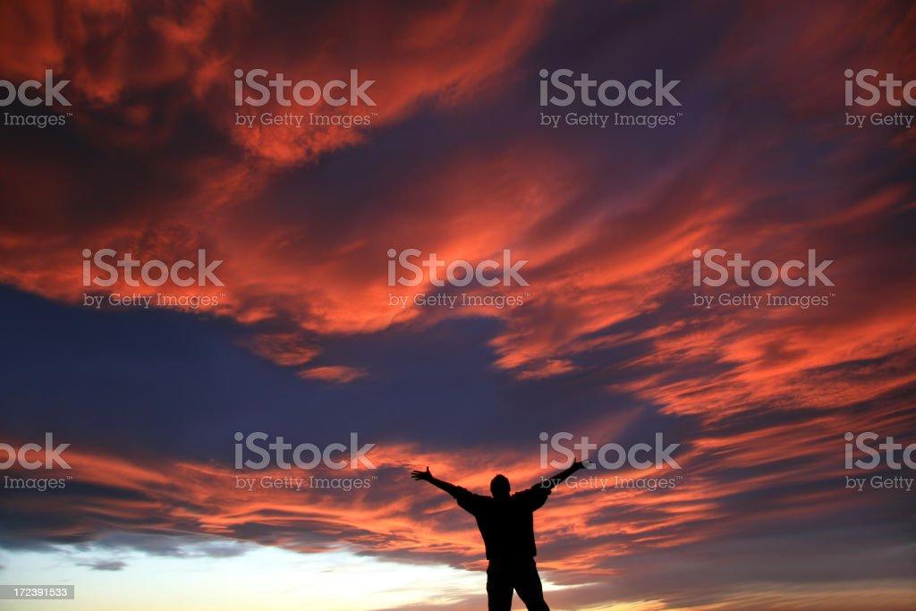 Man Praise and Worship Singing royalty-free stock photo