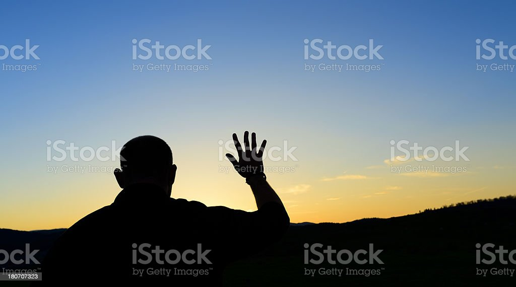 man praying royalty-free stock photo
