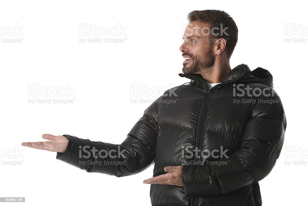Man presenting royalty-free stock photo