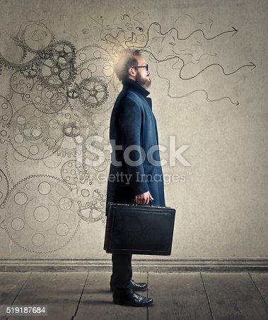 istock Man processing ideas 519187684
