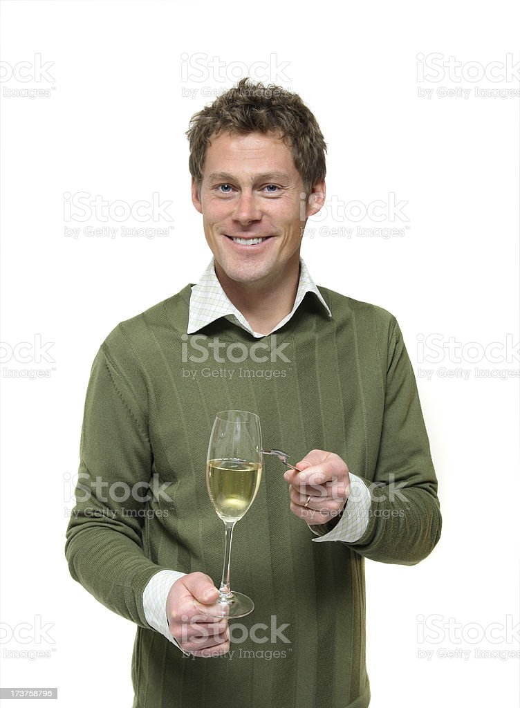 Man Proposing a Toast stock photo