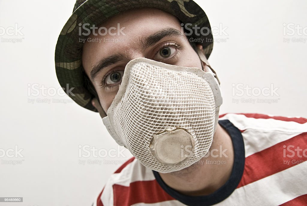 man protects himself from the influence royalty-free stock photo
