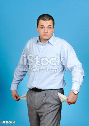 Man Pulling Out Empty Pocket Stock Photo & More Pictures of Adult