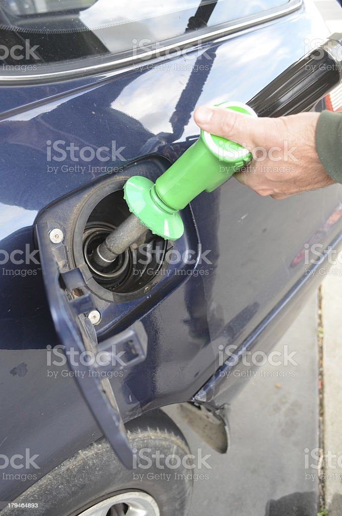 Man Pumping Petrol royalty-free stock photo