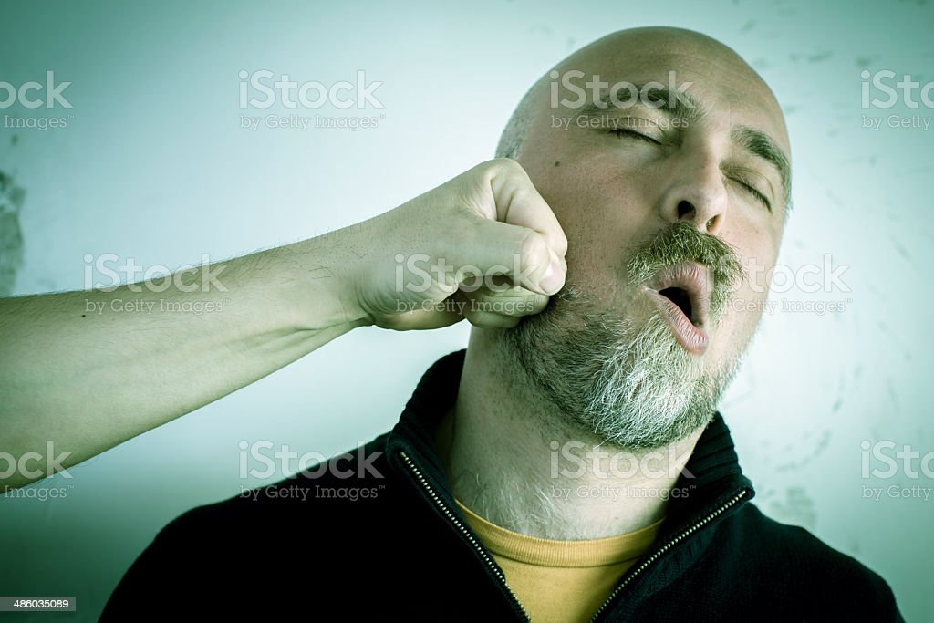 Man punched stock photo