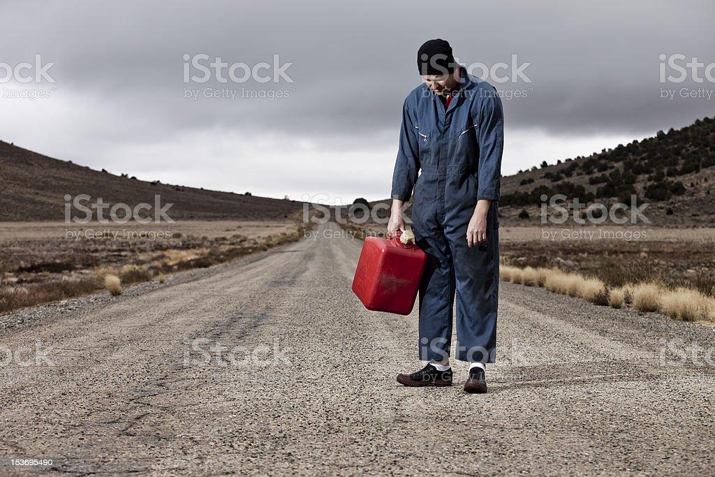Man put of Gas stock photo