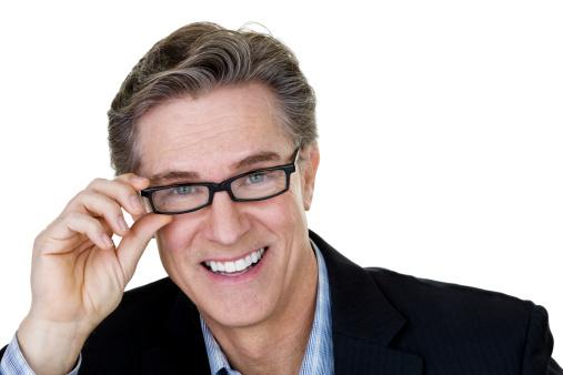 825083248 istock photo Man putting on eyeglasses 172426162