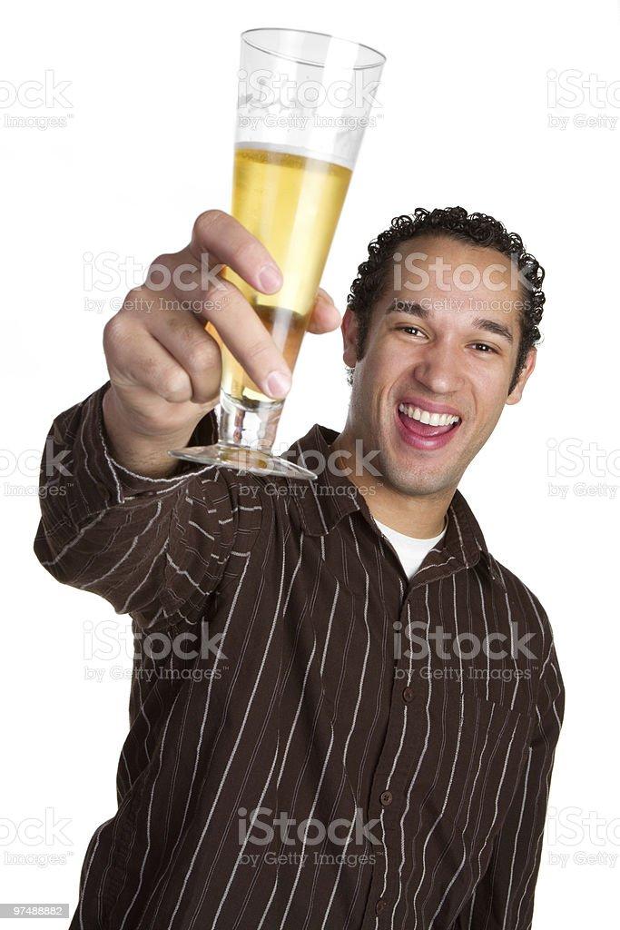 Man Raising Glass royalty-free stock photo