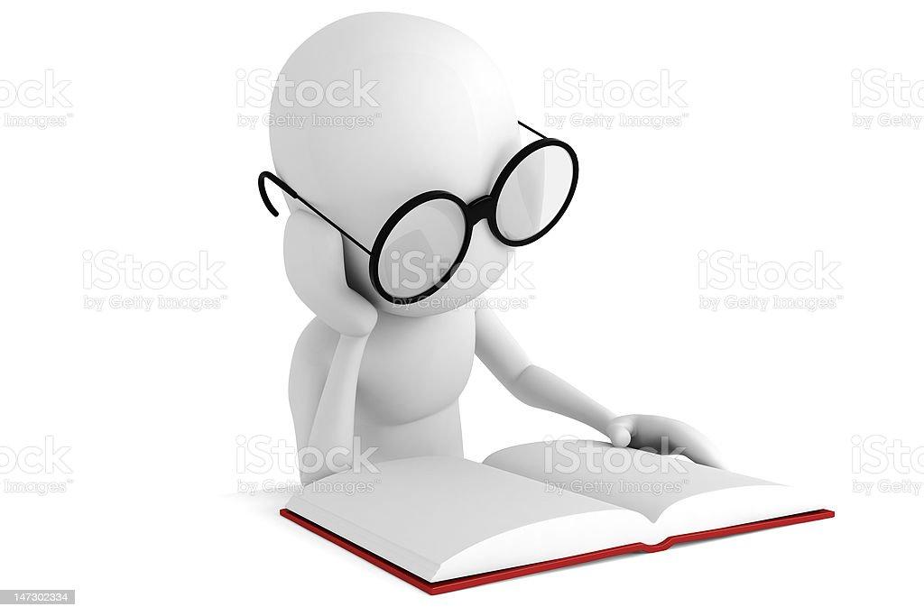 man, reading a book stock photo