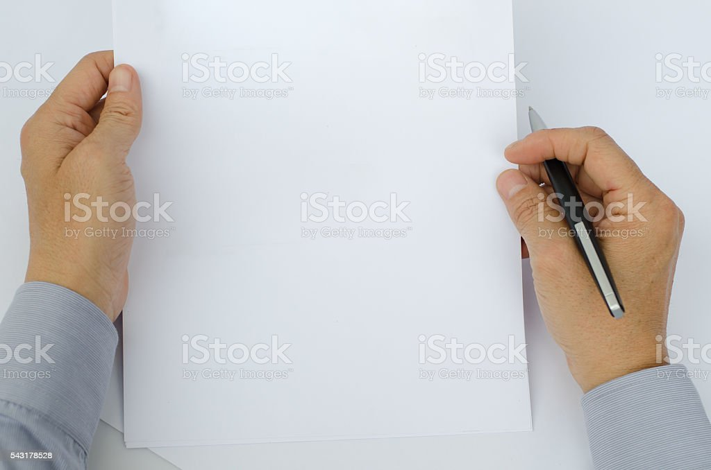 Man reading a doccument - foto de stock