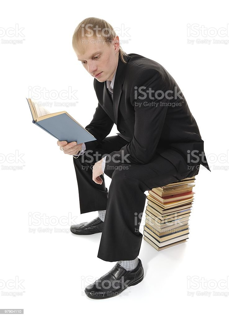man reading book royalty-free stock photo
