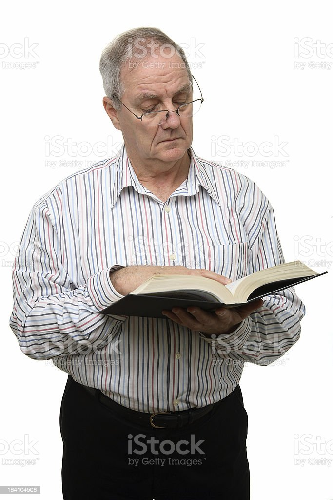 Man Reading royalty-free stock photo