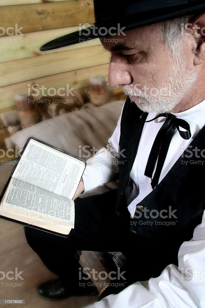 Man reading the Bible 2 stock photo