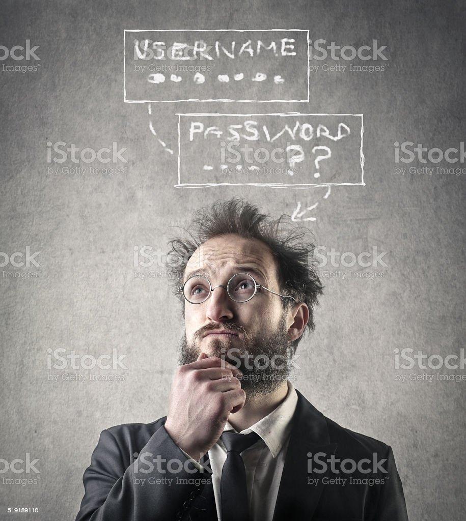Man recalling stock photo