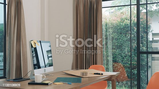 istock Man receive package 1133106925