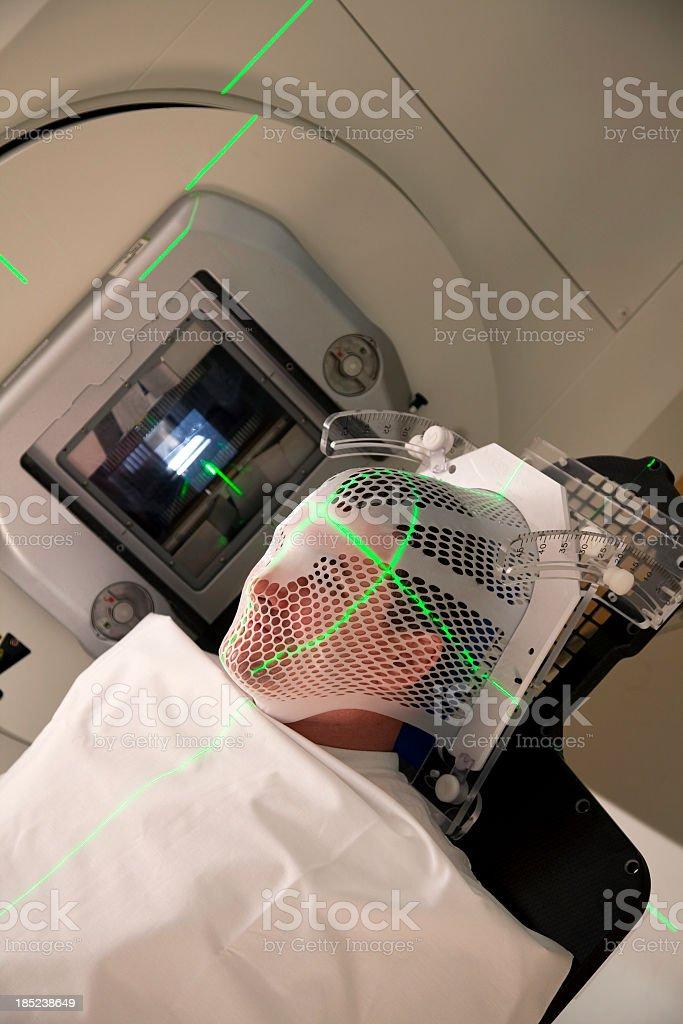 Man Receiving Radiation For Brain Tumor royalty-free stock photo