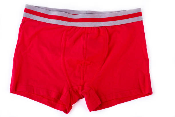 Man red underwear on white background. Man red underwear on white background. Male red briefs isolated on white background. panties stock pictures, royalty-free photos & images