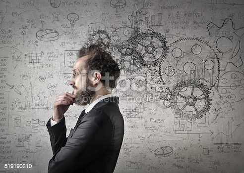 istock Man reflecting ideas 519190210