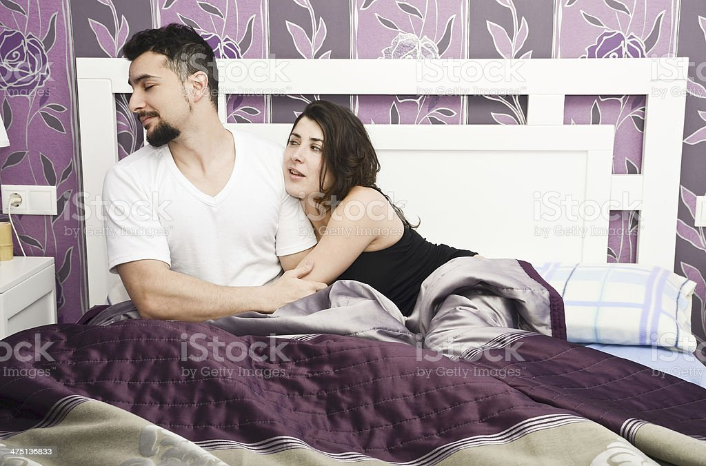 Man rejects her wife. stock photo