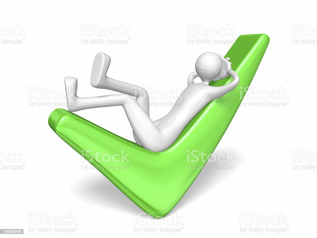 man relaxation royalty-free stock photo