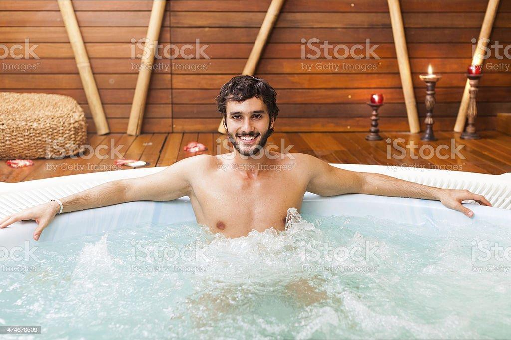 Mann Entspannen in einem beauty farm – Foto