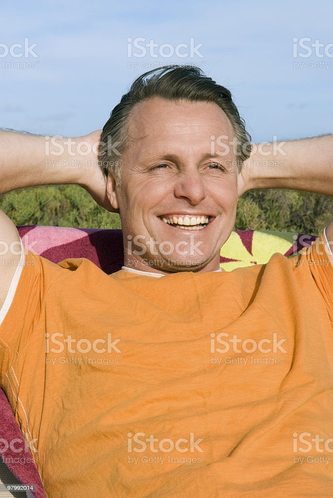Man relaxing. royalty-free stock photo