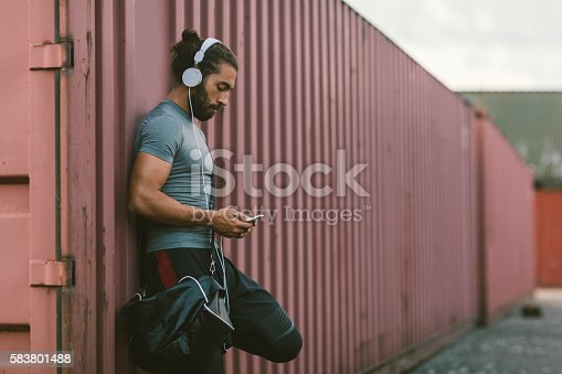 istock Man Resting After Running. 583801488