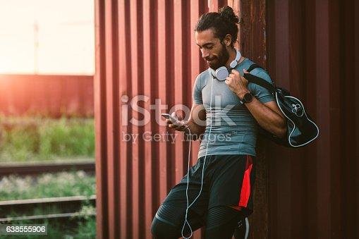 istock Man Resting After Running. 638555906