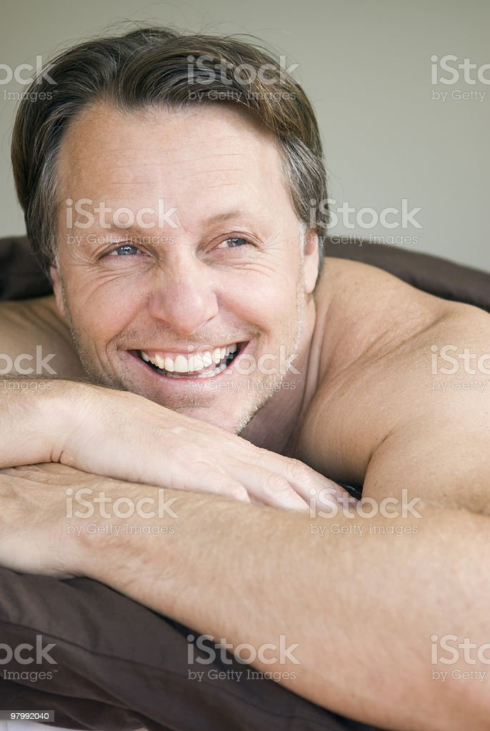 Man resting. royalty-free stock photo