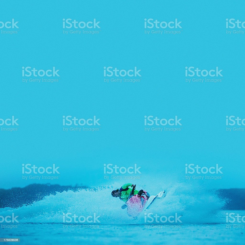 man ridding a jet ski royalty-free stock photo