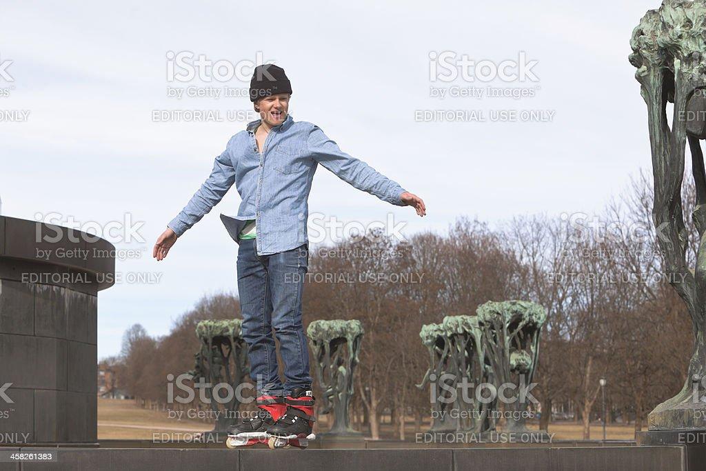 Man riding his skateboard. royalty-free stock photo