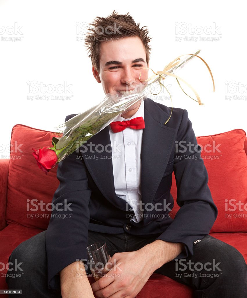 Uomo Rose foto stock royalty-free