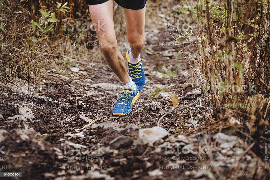 man runner skyrunners stock photo