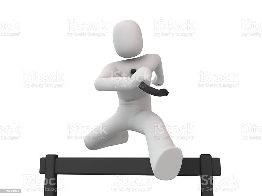 Man Running Hurdles royalty-free stock photo