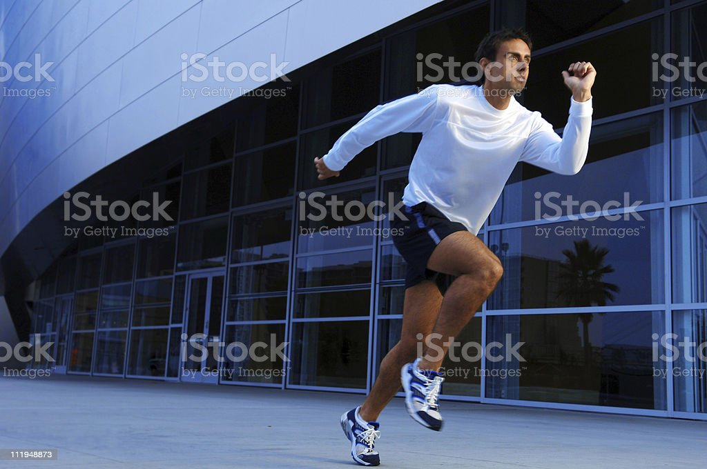 Man Running Jogging in City royalty-free stock photo