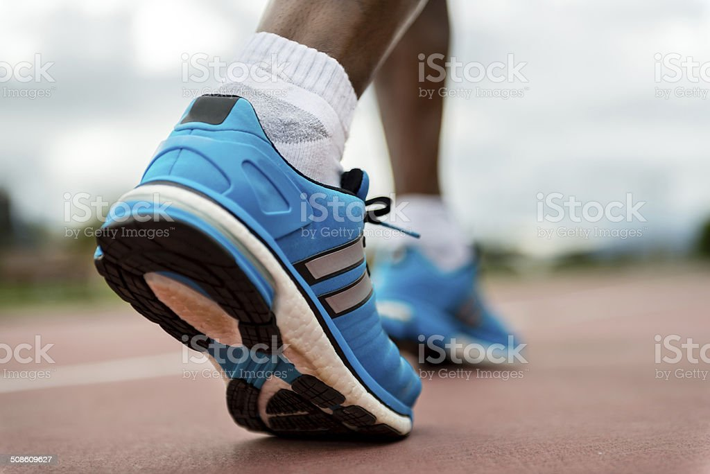 Man running stock photo