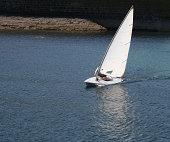 man sailing dingy