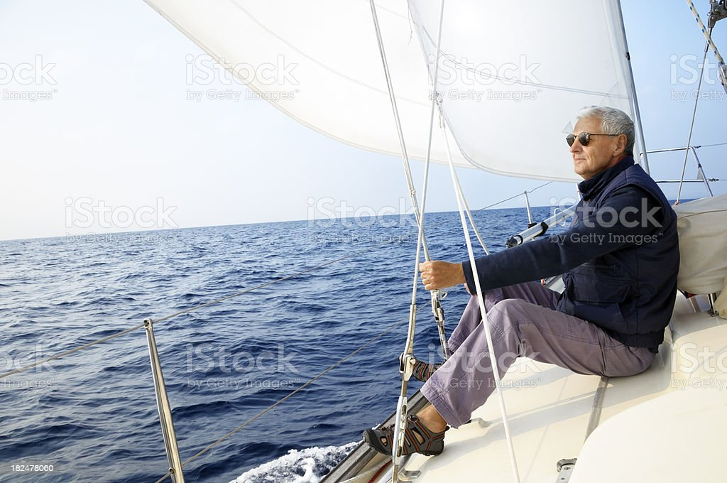 Man sailing royalty-free stock photo