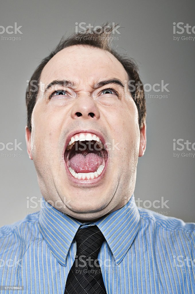 Man Screaming Portrait royalty-free stock photo