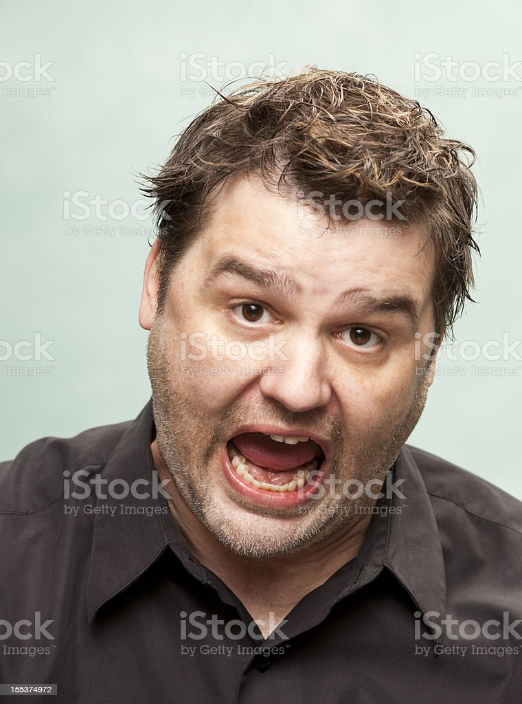 Man Screams stock photo