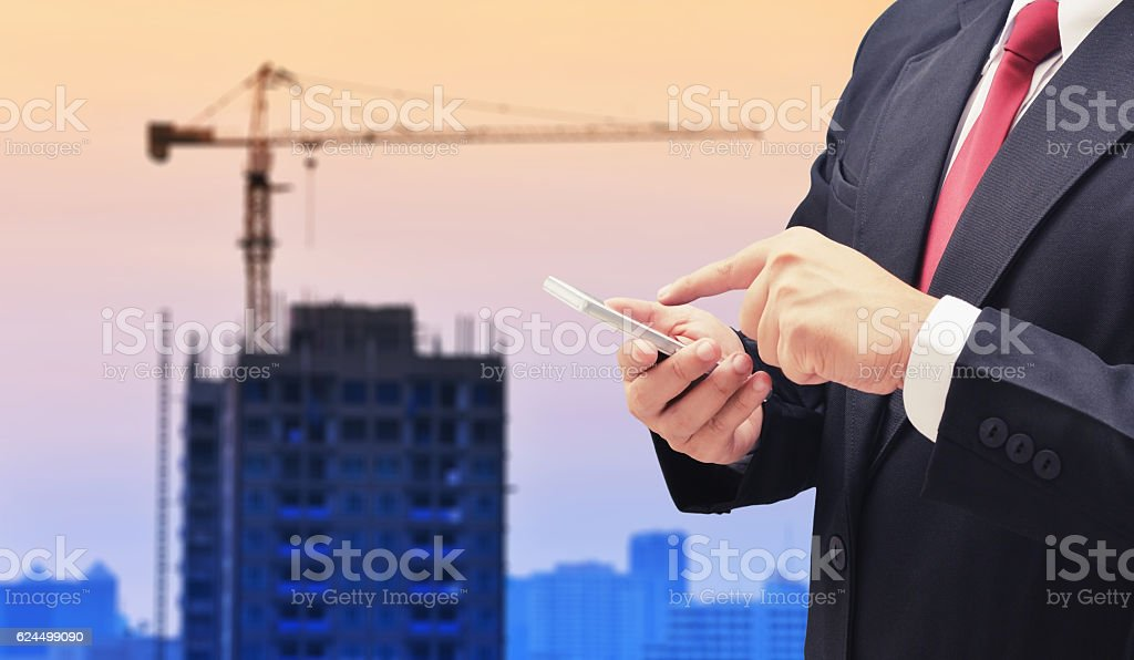 man search estate condo stock photo